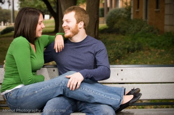 Carolyn and Micah Engagement in Denton, texas