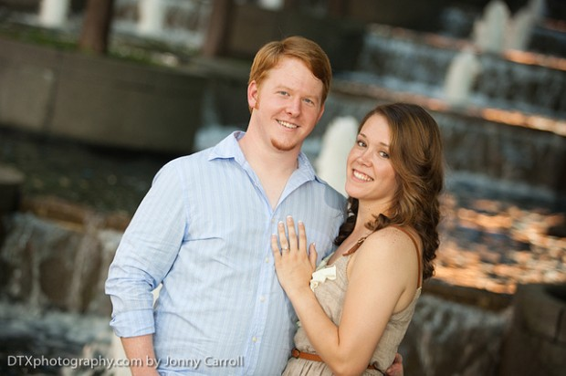Kevan & Alex Engagement photography in downtown Dallas