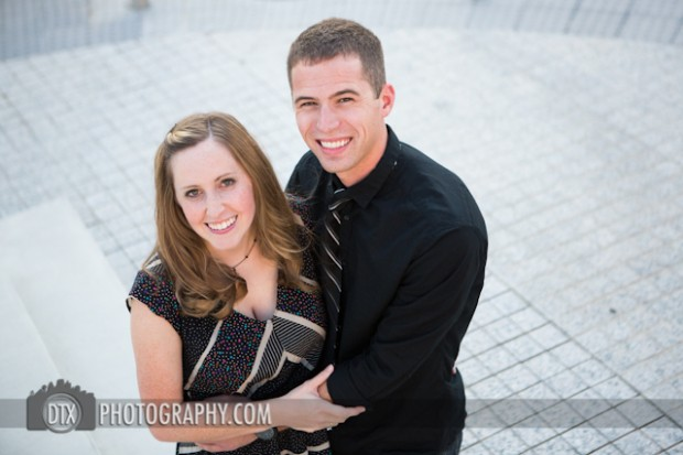 Meredith and Zach's Downtown Engagements